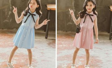 £11 instead of £67 (from MagicTrend) for a childrens sleeveless button up shirt dress – choose from two colours and save 84%