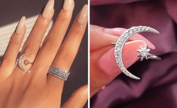 £2.99 instead of £19.99 (from Hey4Beauty) for an adjustable moon and star ring –save 85%