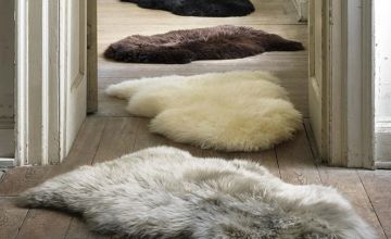 £8.99 (from Direct Warehouse Limited) for a faux sheepskin rug
