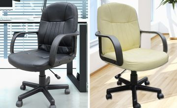 £32 instead of £60 (from mHstar) for a PU leather office swivel chair – choose from two colours and save 47%.