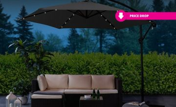 £54.99 instead of £249.99 for an LED lined garden cantilever with a parasol from Direct2Public Ltd - save up to 78%
