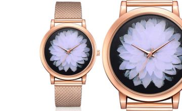 £12.99 (from CNC Group) for a personalised ladies' floral wristwatch