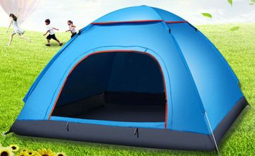 £16.99 (from Litnfleek) for a foldable waterproof outdoor tent
