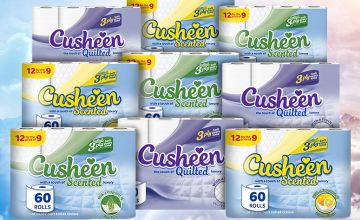 £12.99 for 60, or £24.99 for 120 rolls of Cusheen toilet rolls from Avant-Garde Brands Ltd - save up to 57%