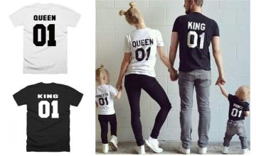 £5 instead of £19.99 for a Family T-Shirt - King, Queen, Prince & Princess from Hey4Beauty - save 75%