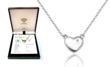 £19.99 instead of £149.99 (from Taylors Jewellery) for a 0.005-carat diamond heart pendant –save 87%