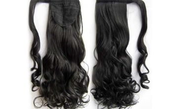 £4.99 instead of £19.99 (from Blu Fish) for a ponytail wrap around hair extension - save 75%
