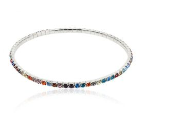 £5.99 (from Your Ideal Gift) for a multi-coloured tennis ankle bracelet made with crystals from Swarovski®