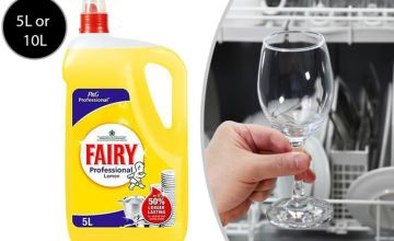 From £10.99 for a 5L washing up liquid or (£19.99) for the 10L washing up liquid by from Global Merchant Support - save up to 52%