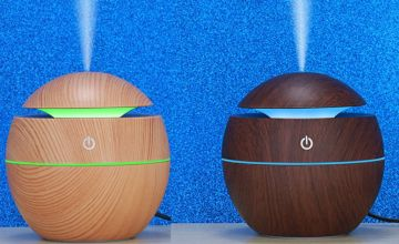 £6.99 instead of £29.99 for an electric wooden-effect essential oil humidifier from Domo Secret - save 77%