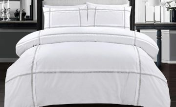 From £18.99 (from eHome Store) for an Eva Lace duvet cover set