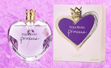 £12.99 instead of £37.01 for a 30ml bottle of Vera Wang Princess eau de toilette, £14.99 for a 50ml bottle or £18.99 for a 100ml bottle - save up to 65%