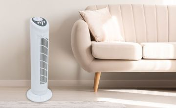 """£16.99 instead of £71.64 (from Who Needs Shops) for a 30"""" three-speed oscillating tower fan - Save 76%"""