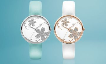 £14.99 instead of £51.99 (from Tick & Ogle) for a silver turquoise Pistil 26 leather ladies' watch or £18.99 for a rose gold white Pistil 26 leather ladies' watch - save up to 71%