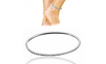 £5.99 (from Your Ideal Gift) for a sterling silver ankle tennis bracelet with Swarovski® crystals