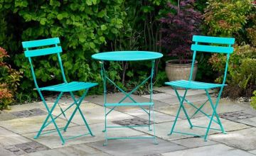 £39 (from Wido) for a three-piece metal bistro set - choose from two colours
