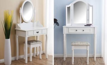 £69 insteads of £139.99 (from Meridan Furniture) for a dressing table set - save 51%
