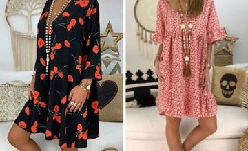 £9.99 instead of £29.99 (from MBLogic) for a casual loose printed summer dress – choose from two designs and save 67%