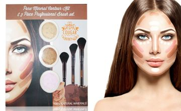£8 instead of £29.99 (from Cougar Beauty Products) for a 6 piece mineral makeup contour kit - Save 73%