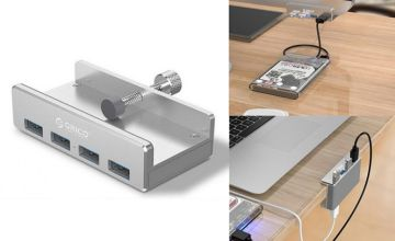 £13.99 instead of £39.99 (from MBLogic) for a four port USB 3.0 clip hub charger - save 68%