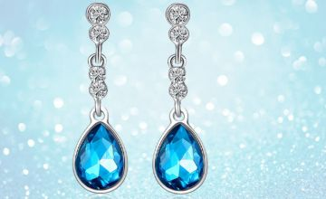 £5.99 instead of £39 (from Your Ideal Gift) for a pair of blue crystal tear drop earrings - save 85%