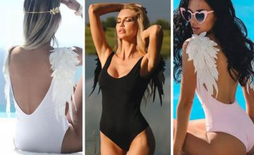 £7.99 instead of £23 (from SpeZzee) for an angel wing backless swimsuit - save 65%