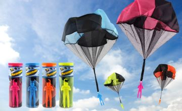 £3.99 instead of £5 (from Spezzee) for a kids' parachute toy figure - choose from four colours and save 20%