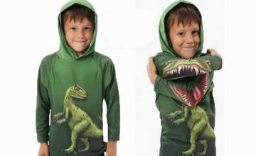 £9 instead of £39.99 (from Litnfleek) for a kids' dinosaur print hoodie - save 77%