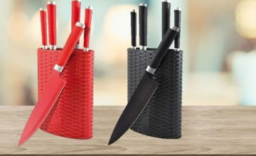 £9.99 instead of £34.99 for a 6 Piece Grunwerg Rockingham Forge Knife Set - 2 Colours to choose from Avant-Garde Brands Ltd - save 71%