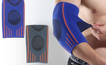 £5.99 instead of £19.99 for an elbow support brace - choose from two colours from Blu Fish - save 70%