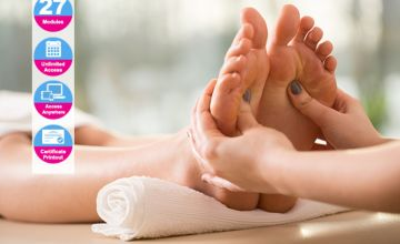 £16 instead of £199.99 (from Online Beauty Training) for an advanced reflexology diploma - save 92%