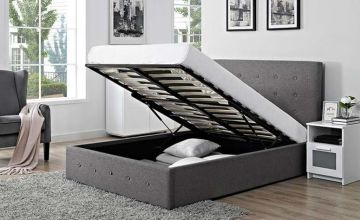 From £169 instead of £1270 (from Ideal Furniture) for a fabric ottoman storage bed - save up to 87%