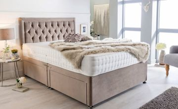 From £149 instead of £ 369.99(from Sleeypn) for a luxury grey suede divan bed set - save up to 60%