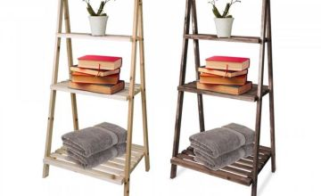 £14 instead of £59.99 (from Fusion Online) for a three-tier wooden ladder display shelf – choose from two colours and save 77%