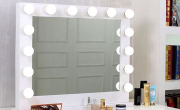 £89.99 instead of £220 (from Jack Stonehouse) for a Sophia Hollywood vanity mirror with LED lights, or £159.99 for Marilyn vanity mirror - save 59%