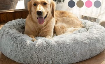 From £9.99 for a luxury doughnut shaped pet bed from Litnfleek - save up to 60%