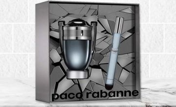 £35.99 instead of £54.70 for a 50ml Paco Rabanne Invictus eau de toilette spray and travel spray, or £49.99 for a 100ml EDT spray and travel spray set - save up to 34%