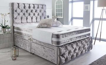 From £99 instead of £399 (from SleepyN) for a Chesterfield crushed velvet Divan bed - save up to 75%