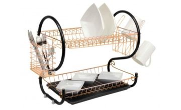 £9.99 instead of £19.99 (from Home Empire) for a two-tier copper dish drainer rack - save 50%