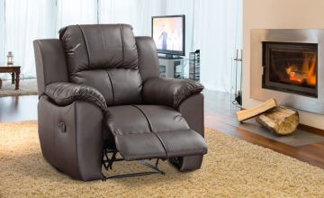 £179 instead of £980 (from The Furniture Department) for a bonded leather recliner armchair – choose from two colours and save 82%