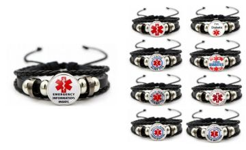 £2.99 instead of £19.99 for a medical alert diabetes bracelet - choose from nine designs from Hey4Beauty - save 85%