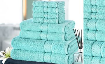 £11 instead of £39.99 (from Fusion Online) for an eight-piece towel bale set - choose from 10 colours and save 72%