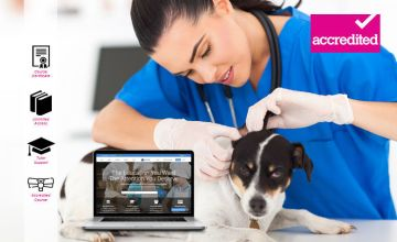 £15 instead of £199 for an online veterinary nursing course from Harley Oxford - save 92%