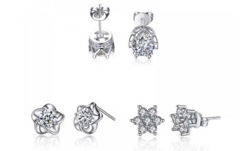 £7.99 instead of £39 (from Your Ideal Gift) for a set of three pairs of crystal earrings - save 80%