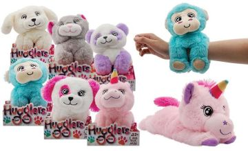 £7.99 instead of £18.99 for a 28cm Hugglers Plush Snap Bands - 6 Animals to choose from Avant-Garde Brands Ltd - save 58%