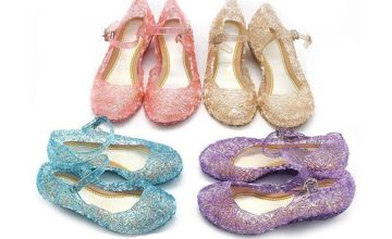 £7.99 instead of £29.99 (from Wish Imports) for a pair of girl's sparkly princess shoes - save 73%
