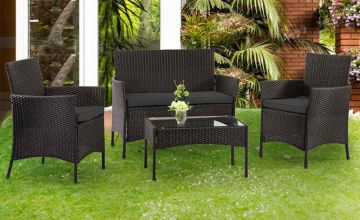 £99 instead of £470 (from Direct2publik) for a four seat outdoor rattan furniture set - save 79%