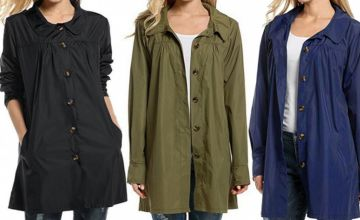 £12.99 (from My Blu Fish) for a lightweight waterproof rain mac - choose from four colours