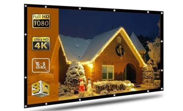 """£18 instead of £29.99 (from WowWhatWho) for a 120"""" foldable projector screen - save 40%"""