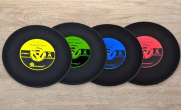 £4.49 instead of £29.94 (from WowWhatWho) for a pack of six vinyl coasters - save 85%
